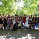 Sept lycéens fleuryssois réunis à Paris avec une trentaine d'autres élèves de l'agglomération orléanaise pour visiter la Japan Expo. - Bainier Rozenn