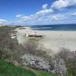 vue d'ensemble de la plage