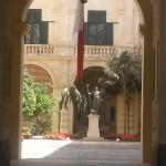La cour intérieure de la Présidence à La Valette